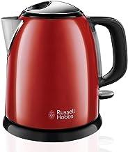 Russell Hobbs Colours Plus+ Flame Red Mini Waterkoker Rood (1L), Snelkookfunctie, Zuinig, RVS/ Hoogglans Afwerking Rood, ...