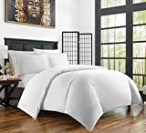 Zen Bamboo Ultra Soft 3-Piece Rayon Derived From Bamboo Duvet Cover Set - Hypoallergenic and Wrinkle Resistant - King/Cal King - White