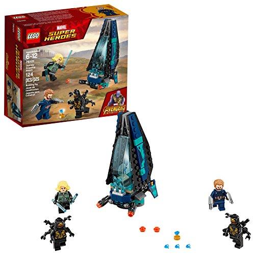LEGO Building Kit Marvel Super Heroes Infinity War, Capitán América, Ataque de la Nave de los Outriders (76101)