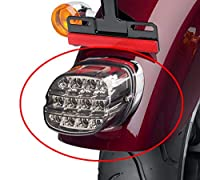 Esyauto テールライト テールランプ ハーレー オートバイ用 LEDナンバー灯 ラーニング&ブレーキ&ライセンス 取付簡単 高品質 高輝度 長寿命 低消耗 一年保証付き XL FLH FX FL FXDなどに対応