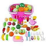 YVSoo 38 Dînette Cuisine Enfant Fruits et Légumes à Couper Jeu d'imitation...