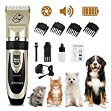 Wilktop Tosatrice Professionale Cani, Tosatrice Elettrica Professionale Batteria Ricaricab...