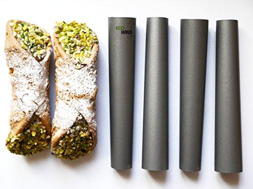 Haus Living Schaumrollenform 4 Stc - 11cm Schillerlockenform Teflon-Cannoli Röhrchen -Ideal für süß