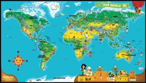 NEW LeapFrog LeapReader Interactive World Map works with Tag ,#G14E6GE4R-GE 4-TEW6W287685