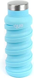 que Bottle | Designed for Travel and Outdoor. Collapsible Water Bottle - Food-Grade Silicone/BPA Free/Lightweight/Eco-Friendly - 12oz