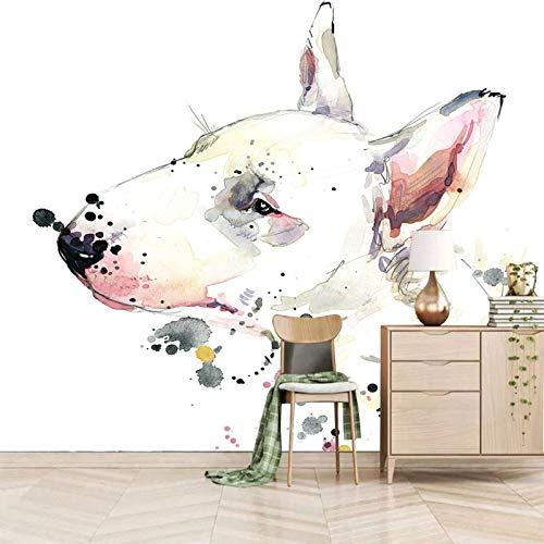 Msrahves Papel tapiz estéreo 3D Resumen graffiti animales perros Fotomural Vinilo de Pared Paredes Decoración Hogar fotomurale 3d fotomurale da parete fotomurales decorativos pared papel pintado