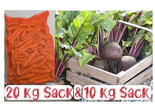 Tepenhof 20KG Futtermöhren & 10kg Rote Beete Pferdefutter Lecker auch für Kaninchen