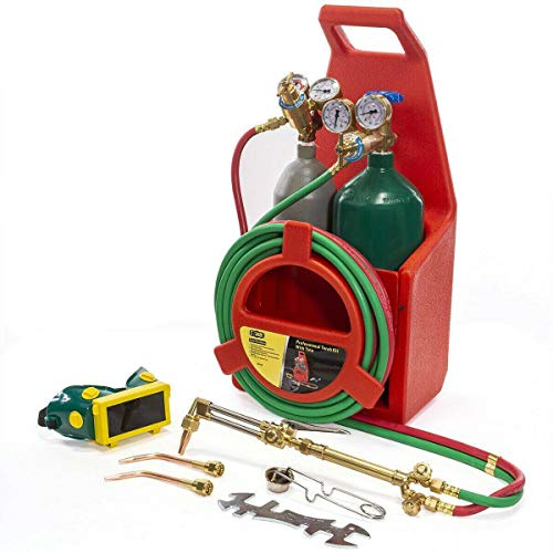 Professional Portable Oxygen Acetylene Oxy Welding Cutting Torch Kit W/Gas Tank, Torch Cutting and Welding Portable Kit