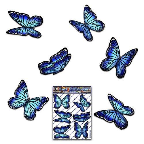 Adesivi per auto in vinile confezione piccola farfalla Monach blu - ST00028BL_SML - JAS Adesivi