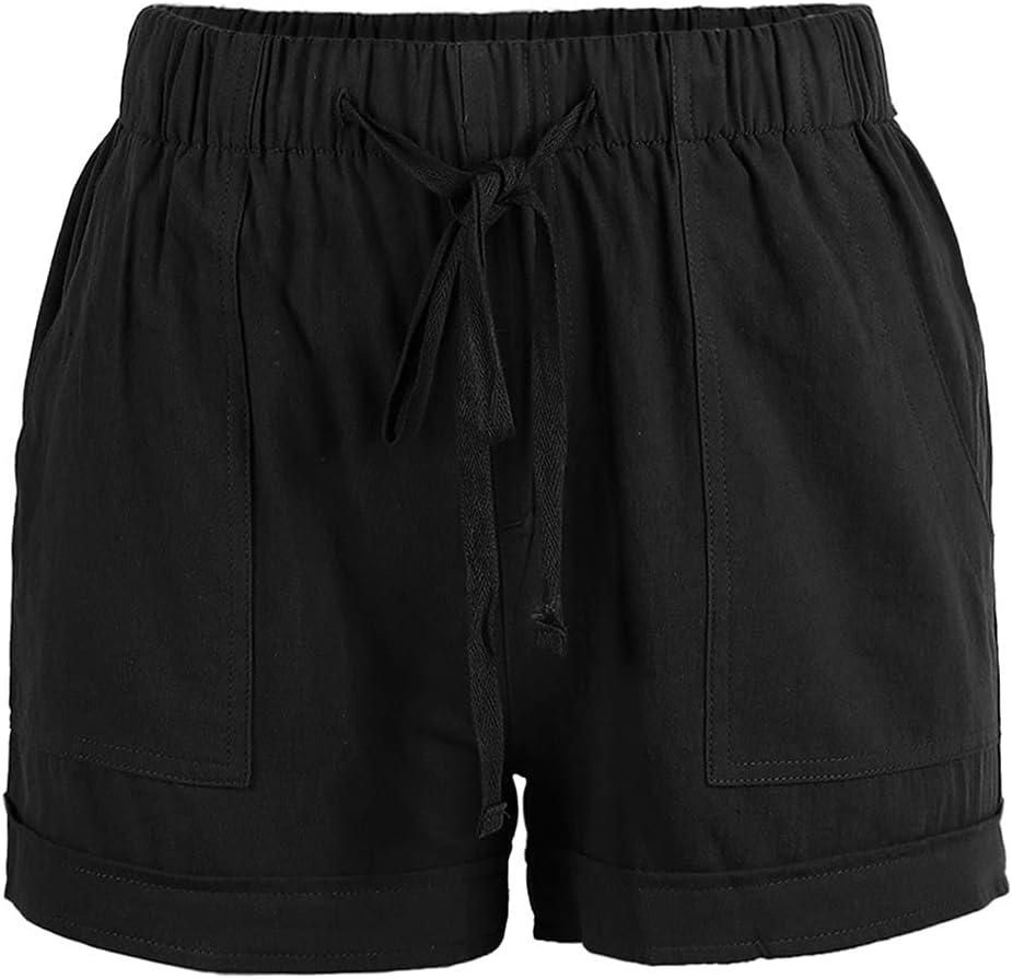 Drawstring Casaul Print NEW Shorts for Elastic Summer Waist Women Pr trend rank