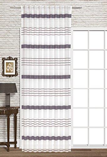 Startex decoratieve sjaal, polyester, wit/paars, 140 x 245 cm
