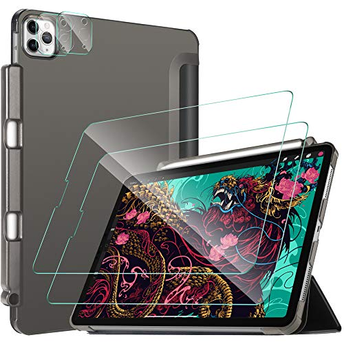 IVSO für iPad Pro 11 2020 Kamera Panzerglas Schutzfolie mit Panzerglas Schutzfolie mit Hülle für iPad Pro 11 Zoll 2020