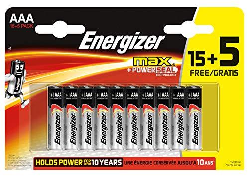 Energizer Max Alkaline Micro 15+5
