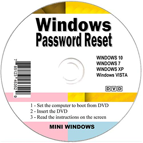 Seifelden 2021 Windows Password Reset Disk Recovery Premium Bootable Disc for Removing Your Forgotten Windows Password on Windows 10, Windows 7, Vista, XP - Unlimited Use! for Desktop and Laptop