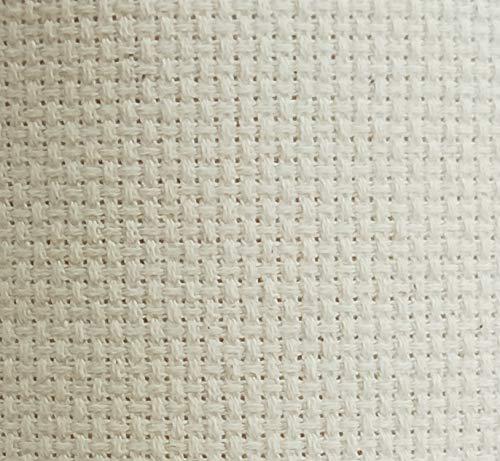 "KCS 59""x 1 Yard 14ct Counted Cotton Aida Cloth Cross Stitch Fabric (Ecru)"