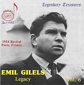 Emil Gilels Legacy, Vol. 6: The 1954 Paris Recital (Live)