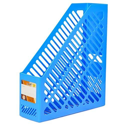 Ablagesystem für den Schreibtisch Desktop File Sorter Einfach Vertical File Sorter Storage Manager for Heim und Büro Kunststoff Organizer Storage Rack einreihig Ordner-Ablagesysteme (Color : Blue)
