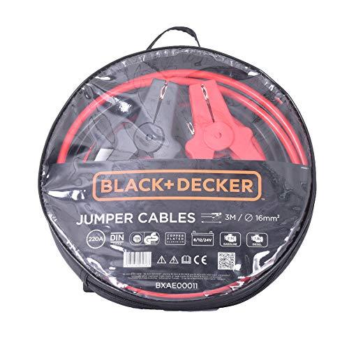 Black+Decker Câbles de Démarrage pour Batterie Voiture 16mm2