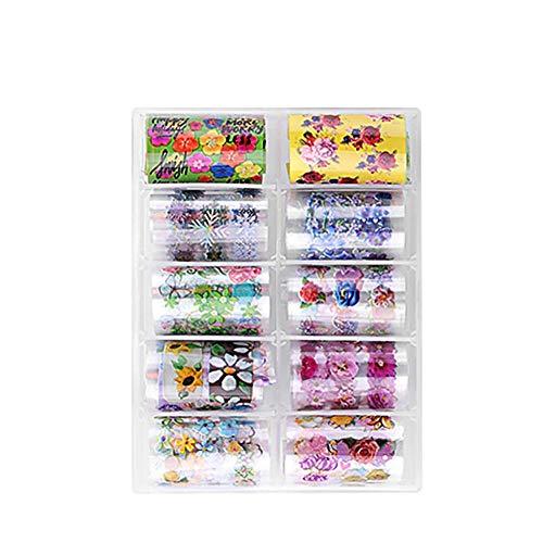 BIGBOBA Nail Sticker, Nail Decal Sticker Nail Set, Waterproof Sticker Nail Sticker Nail DIY Decoration 13.3 * 10.1cm