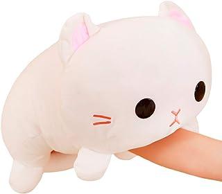 Cuddle White Kitten Cat Stuffed Animals Kitty Plush Soft Cat Toy Pillow Decor Plushie Anime Cat Dolls Gifts for Kids Birth...