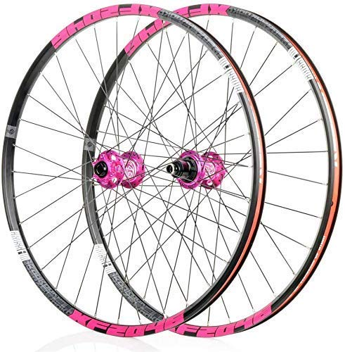Ruedas de bicicleta de montaña, juego de ruedas de bicicleta 26/29 / 27.5 pulgadas Delantero Juego de ruedas traseras Llanta de doble pared Freno de disco de liberación rápida 32 agujeros 4 Palin