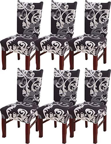 Preisvergleich Produktbild HYHYEU22 Stuhlhusse 6 Stück,  waschbar abnehmbar Elastische Stuhlhusse mit Rückenlehne C