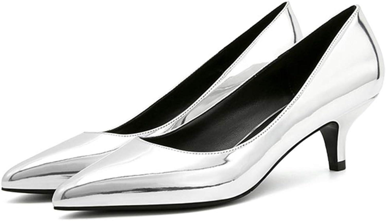Yra Frauen Kitten Heels Klassische Gericht Schuhe Schuhe Schuhe Damen Flache Schuhe Kleid Mid Pumps Closed Toe Arbeitsschuhe 5 cm für Formale Abend Prom  069b3b