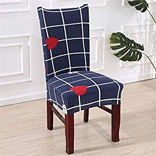 Y-Trust Modern Printed Pattern Chair Covers Spandex Dining Room Stretch Seat Cover Chair Protective Case for Restaurant housse (A5)