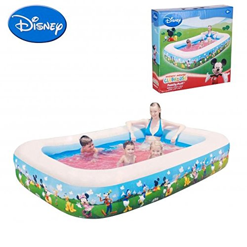 Piscine Gonflable Mickey Rectangle Enfant 269x175x51 - Multicolore - 158