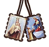 Christian Brands Catholic Large Brown Wool Scapular Pack of 12