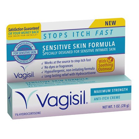 Vagisil Sensitive Skin Formula Maximum Strength Anti-Itch Creme with Oatmeal - 3PC