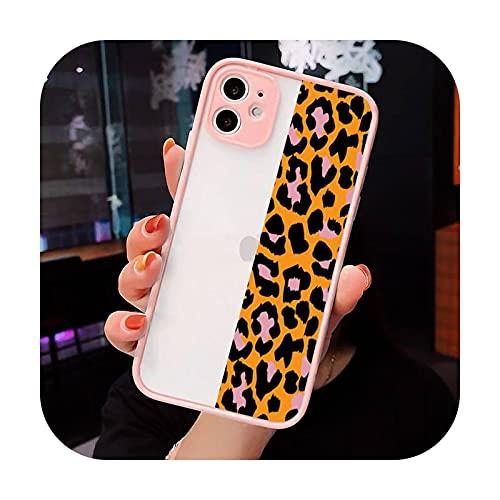 Moda Hermoso Leopardo Impresión Teléfono Carcasas Mate Transparente Para Iphone 12 Mini 11 Pro XR XS Max 7 8 Plus X Contraporte-a7-iPhone12mini