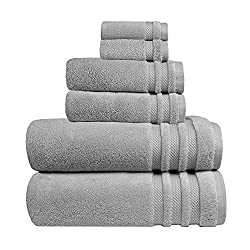 in budget affordable TRIDENT Luxury Hotel Collection, Oversized Bath Towel, 100% Cotton, No Twist, 6 Piece Set-2 …