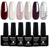 Allenbelle Esmaltes Permanentes Para Uñas Nail Art Soak Off UV LED Esmalte Permanente de gel (Lot 6 pcs 7.3ML/pc) 002