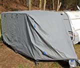 Wohnwagen Abdeckplane Ganzgarage Schutzhülle Plane Caravan Cover Schutzhaube (M - 5,5 m Länge)