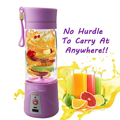 S R EXCLUSIVE Electric Automatic Protein Shaker Blender Water Bottle Multifunction Smart Mixer Cup (Clear) Purple