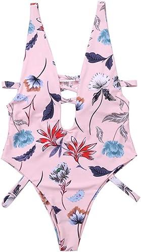 HARDY-YI - Bikini Bikini - Maillot de Bain pour Femme Sexy Deep V Bikini Maillot de Bain Une pièce à Taille Haute - 0554 (Taille   M)
