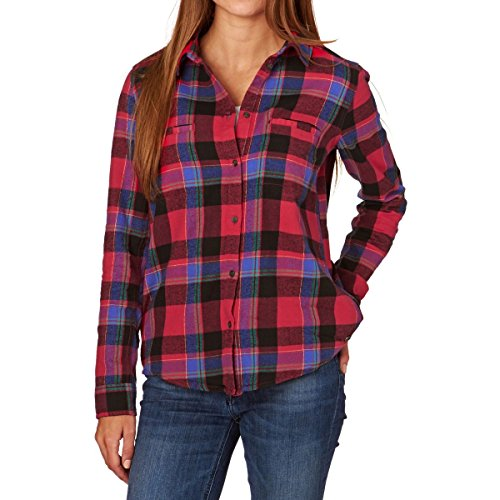 Roxy Flannel Shirts Campay Flannel Shirt - Moon Plaid Combo Scarlet