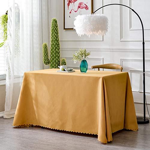 XQSSB Mantel de Mesa Rectangular para Cocina Durable Manteles Resistente Lavable Colores Marrón 160 × 220cm