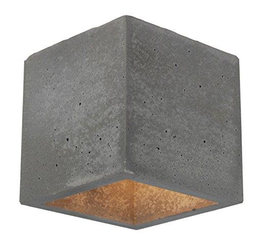 Spot-Light Wandleuchte Block G9 Beton/Metall/Glas Beton/Transparent - 2255136