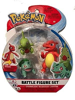 Wicked Pokemon Battle 3 Figure Set - Charmeleon, Bulbasaur & Larvitar de Pokemon