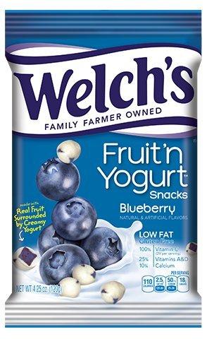 Welchs Fruit n Yogurt Snacks, Blueberry - 4.25 oz Bag