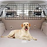 Vetoos Car SUV Dog Barrier, Vehicles Pet Divider Gate for Trunk Cargo Area - Extendable for Universal Fit, Foldable for...