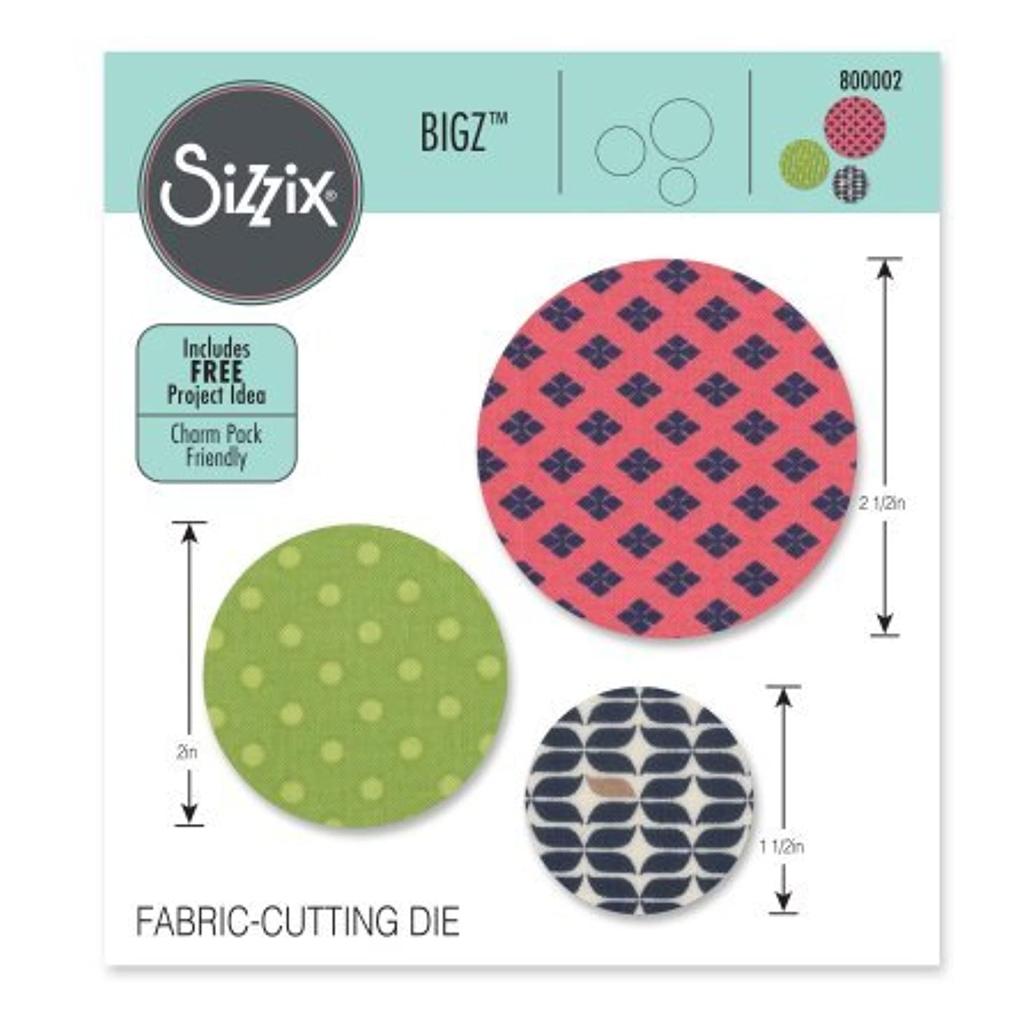 Sizzix - Bigz Die - Quilting & Scrapbooking - Die Cutting Template - Circles 1 1/2 in 2 in and 2 1/2 in