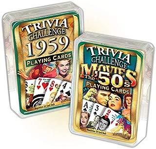 Flickback Media, Inc. 1959 Trivia Playing Cards & 1950's Movie Trivia Combo: 60th Birthday or Anniversary