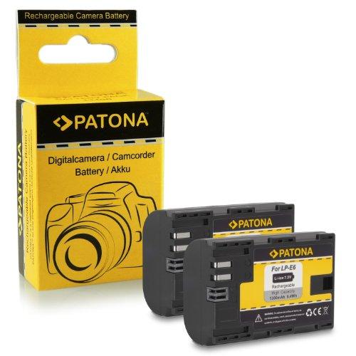 2x Batteria LP-E6 per Canon EOS 5D Mark II   5D Mark III | EOS 7D | EOS 60D   60Da