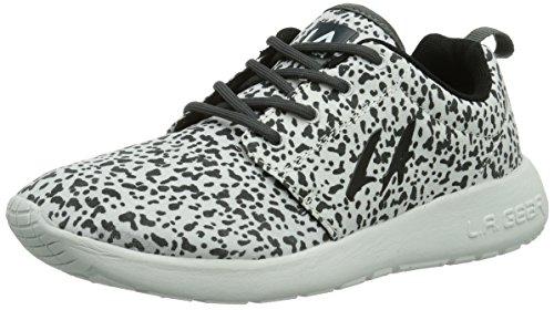 L.A. Gear Damen Sunrise Sneakers, Weiß (Wht-Black 11), 39 EU