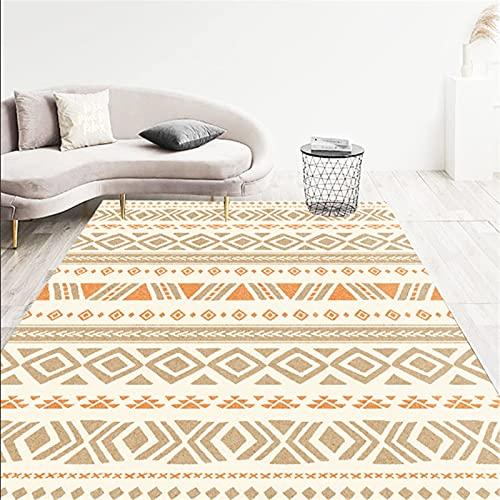 LBMTFFFFFF Alfombra alfombra alfombra para el hogar, salón, felpudos, alfombra grande, rectangular, estilo étnico, suave y agradable al tacto, 80 x 120 cm