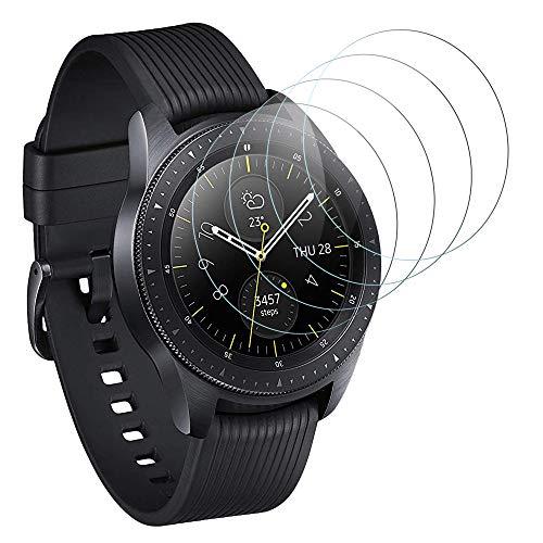 DASFOND Panzerglas Kompatibel mit Samsung Galaxy Watch 42mm Schutzfolie, [4 Stück] 9H Härte, Anti-Kratzen, Anti-Öl, Anti-Bläschen, Glas Displayschutzfolie für Galaxy Watch 42mm