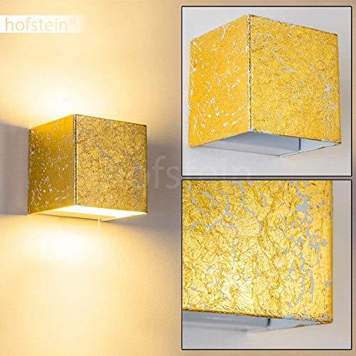 LED-wandlamp Olbia in goudkleur - Moderne metalen wandspot met geïntegreerde LED-lampen - Wandspot LED met 350 lumen en 3000 Kelvin